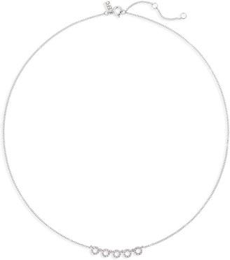 Ef Collection Diamond Open Circle Choker Necklace