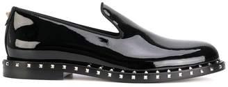 Valentino studded slip on loafers
