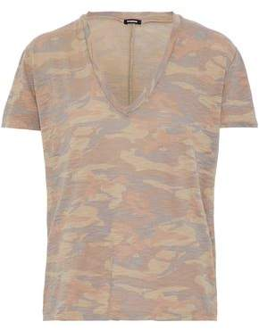 Monrow Printed Slub Cotton-Jersey T-Shirt