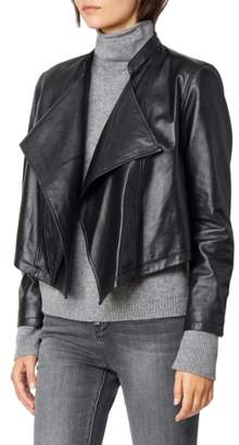 Habitual Dita Cascading Leather Jacket