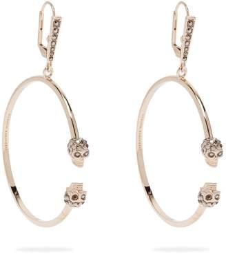 Alexander McQueen Double skull hoop earrings
