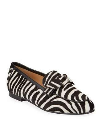 Alexandre Birman Becky Zebra-Print Fur Loafers