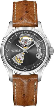 Hamilton Jazzmaster Automatic Open Heart Strap Watch