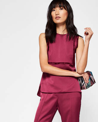 Ted Baker JADEA Fringe detail sleeveless top