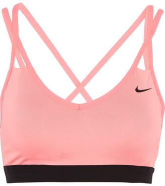 Nike - Pro Indy Stretch-jersey Sports Bra - Blush $45 thestylecure.com
