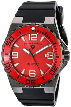 Swiss Legend Men's 10008-BB-05-RB Expedition Analog Display Swiss Quartz Black Watch