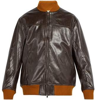 Needles - Faux Leather Bomber Jacket - Mens - Brown