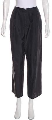 Band Of Outsiders Silk High-Rise Pants