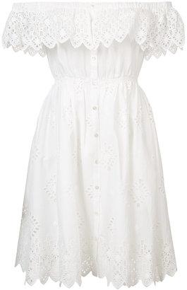 Sea off shoulder dress