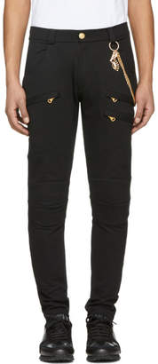 Pierre Balmain Black Chain Lounge Pants