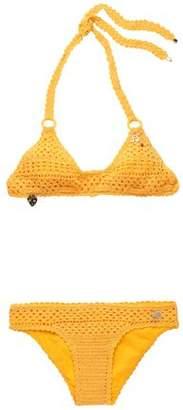 Stella McCartney Appliquéd Crochet-Knit Bikini