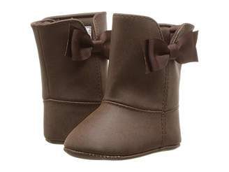 Baby Deer Soft Sole Shimmer Boot with Side Bow (Infant)