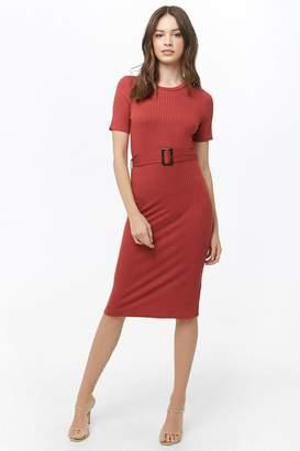 Forever 21 Ribbed Belted Dress