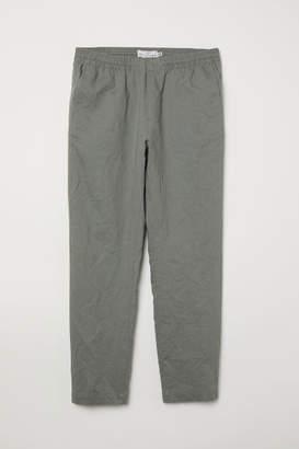 H&M Linen-blend Pants - Green