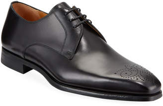 Magnanni Men's Hand-Antiqued Leather Lace-Up Shoes
