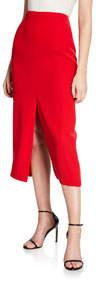 Midi Front-and-Back Slit Skirt