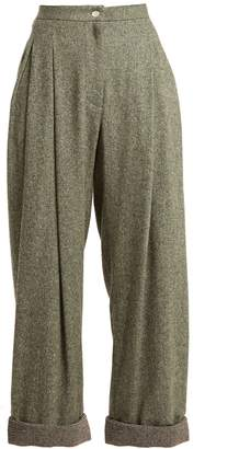 High-rise wide-leg wool-blend trousers Natasha Zinko 7epwt2f