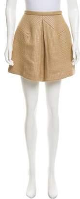 DELPOZO Textured Mini Skirt