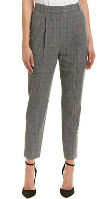 Rebecca Taylor Modern Check Pleated Pant