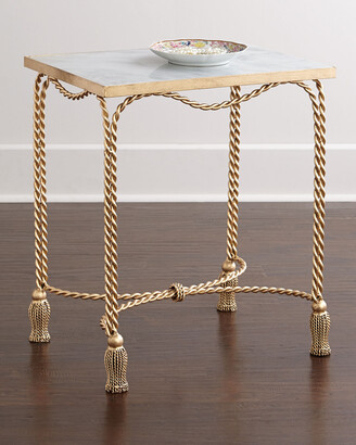 Farah Marble-Top Side Table