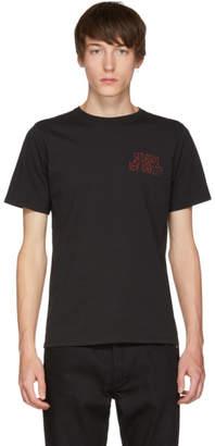 Saturdays NYC Black Condensed Wave T-Shirt