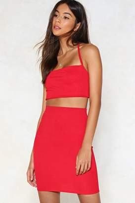 Nasty Gal Two Hot Two Handle Halter Top and Mini Skirt Set