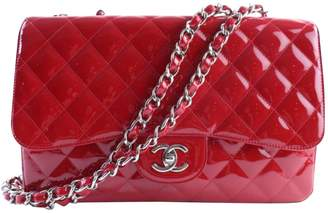 Chanel Red Patent Leather Handbag