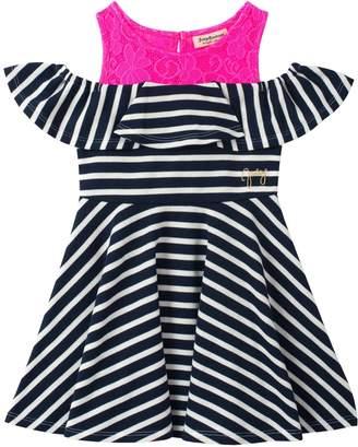 Juicy Couture Lace Yoke Striped Dress
