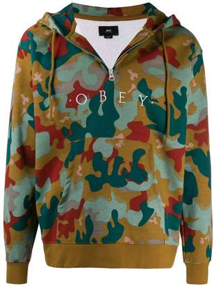 Obey camouflage logo hoodie