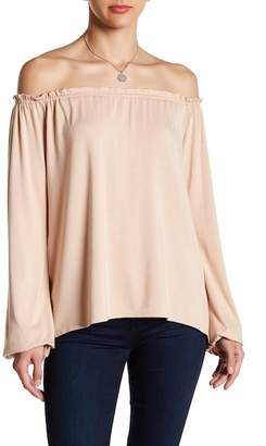 Couture Go Ruched Ruffled Long Sleeve Tee