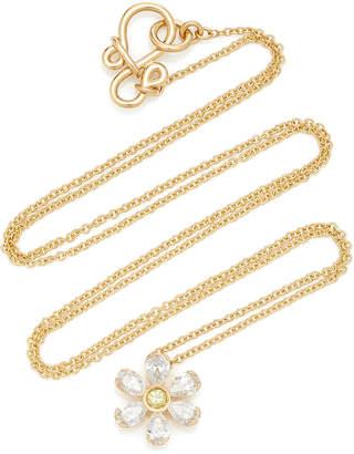 Sophie Bille Brahe Canary Marguerite 18K Gold Diamond Necklace
