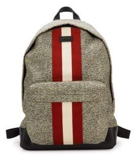 Bally Racing Striped Nylon Backpack