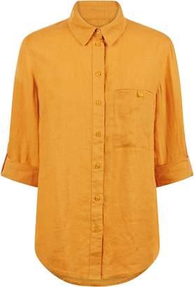 Jaeger Roll Sleeve Linen Shirt