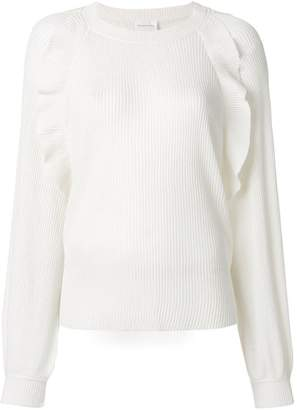Chloé ribbed ruffle detail sweater