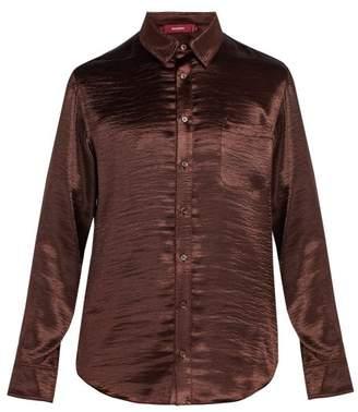 Sies Marjan - Sander Satin Shirt - Mens - Brown