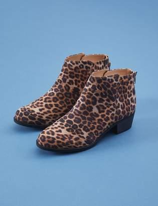 Lane Bryant Leopard Low Heel Bootie