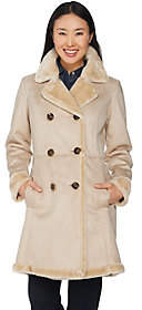 C. WonderAs Is C. Wonder Faux Shearling Double Breasted Coat