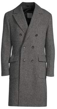 Sanyo Gautier Wool Tweed Overcoat