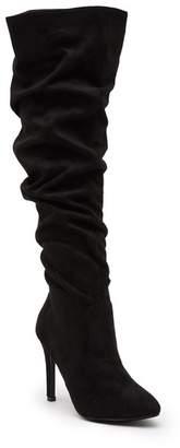 Catherine Malandrino Wilma Ruched Stiletto Knee High Boot