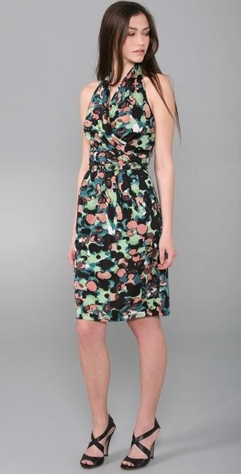 Catherine Malandrino Draped Neckline Dress with Belt