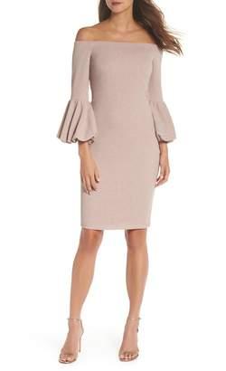 Eliza J Off the Shoulder Body-Con Dress