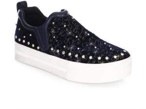 Ash Jet Set Nadine Embellished Slip-On Sneakers