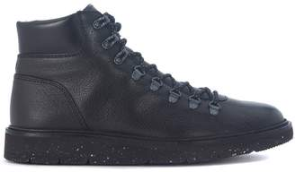 Hogan Hiking H334 Black Leather Ankle Boots