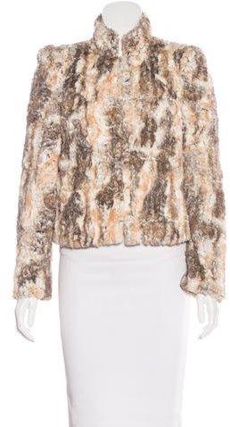 Alice + OliviaAlice + Olivia Faux Fur Long Sleeve Jacket
