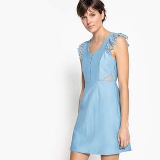 Suncoo Plain Short-Sleeved Bodycon Mini Dress