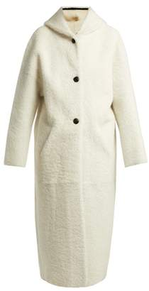 Inès & Marèchal Disciple Hooded Shearling Coat - Womens - White