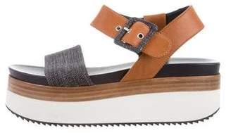 Aquatalia Round-Toe Flatform Sandals