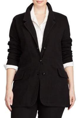 Lauren Ralph Lauren Plus Plus Size Knit Sweater Blazer
