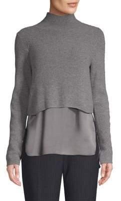 Elie Tahari Casper Cashmere& Silk Hem Sweater