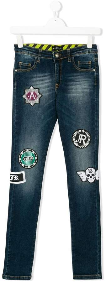 John Richmond Kids Teen appliquéd jeans